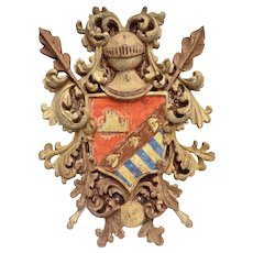 Fine 19th C. Armorial Coat-of-Arms from Northern Italy