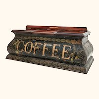 Rare Toleware Coffee Caddy from  Victorian Grocer Shop