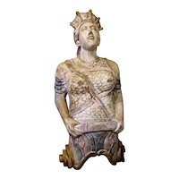 Queen Boadicea Carved Wood Figurehead from London 'Docklands' Pub