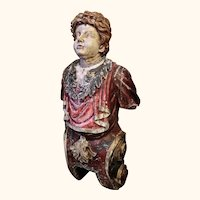 Carved Wood Figurehead of Roman General Paulinus , from a London 'Docklands' Pub