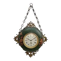 Decorative 19thC. Wall Hanging Clock from France