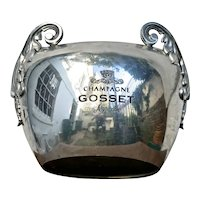 """Rare """"Gosset'  Vintage Champagne Ice Bucket from Reims,  France"""