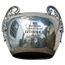 "Rare ""Gosset'  Vintage Champagne Ice Bucket from Reims,  France"