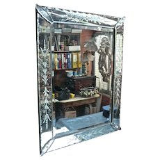 Top Quality ' Art Deco' Period ' Venetian 'Murano'  Etched & Cut Mirror from a Paris Restaurant.