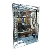 Top Quality ' Turn-of-the-Century ' Venetian 'Murano'  Etched & Cut Mirror from a Paris Restaurant.