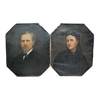Pair of Excellent 19th Century Portraits in Oil from France