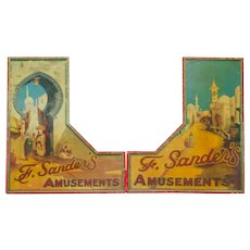 Painted Vintage Fairground Showfront from England