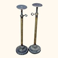 Pair of Antique Brass Hatstands from a Victorian Hat Shop