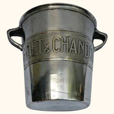 Handsome Vintage Single Bottle Champagne Ice Bucket with famous 'Moet & Chandon' makers plaque.