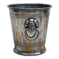 Vintage Pewter Champagne Ice Bucket with Angel's Heads