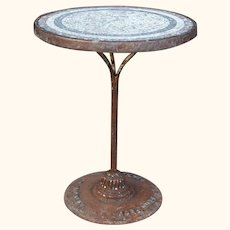 Vintage Bistro or Café Table from Paris with Mosaic Top