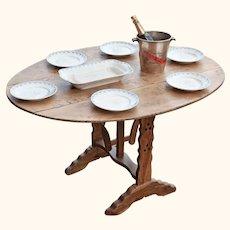 Vintage Cherrywood 'Wine Tasting' or 'Vendange' Table from France.
