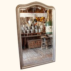 Early 20th C. Silver Gilt Framed Mirror from a Restaurant France