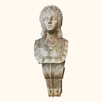 Corbelled Figurehead of a Queen Carved in Oak
