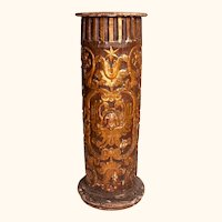 Early 19th C. Carved & Gilded Column from a Church in Provence, Southern France.
