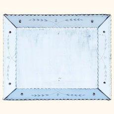 Art-Deco Era Venetian 'Reverse Cushion' Mirror