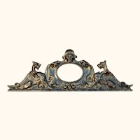 Neo-Gothic Grotesque Mirror-Pediment with Carved Griffins