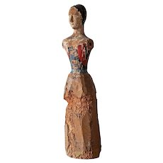 Primitive 18th Century  Doll's 'Marotte' or Costume Mannequin from Paris,  France.