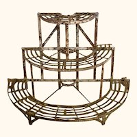 Vintage Metal Plant Stand from France