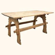 Late 19th Century 'Art Nouveau' Sculptors' Table from Sweden