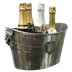 Rare 'Bollinger'  4 Bottle Champagne Ice Bucket