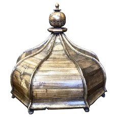 19th Century Carved Wood Cupola Dome from a Church Pulpit in Holland.
