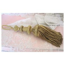 19th Century French Gold Bouillon Metallic Tassel Outstanding Circa 1850-1875