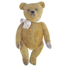 Wonderful Mohair Teddy Bear Clear Glass Eyes Excelsior Stuffed Fabulous Expression