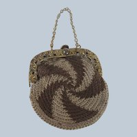 Charming Turn of the Century Purse for Small Antique Doll or Bear