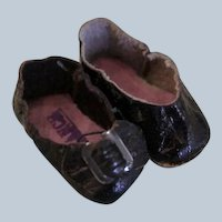 Very Teeny  Shoes Marked France for Small Antique Doll