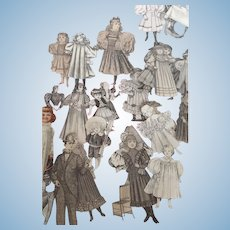 Antique Collection of Antique Paper Dolls, Images, Illustrations