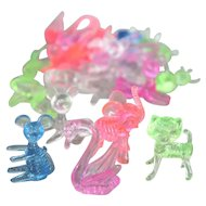 Vintage Dime Store Plastic Funky Plastic Animals Resemble Popular Vintage Hand Blown Glass Versions