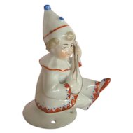 Remarkable Pin Cushion Porcelain Top or Thimble Holder