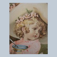Set of TWO Authentic Vintage/Antique Maude Humphrey Prints Iilustrations Miss Muffet Lady in the Shoe