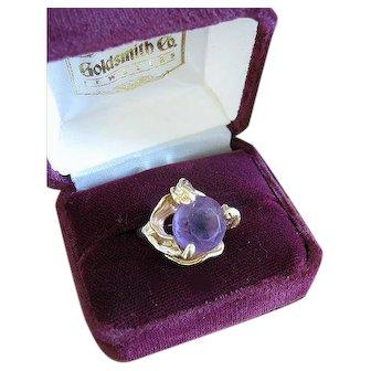 Lovely Vintage Rose de France Amethyst Ring