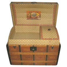 Fabulous Turn of the Century Steamer Trunk Gorgeous Original Condition Dome Top