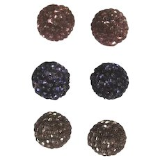 Cards of Vintage Buttons Faceted Rhinestones Sunburts Sequin Embellished European Collection