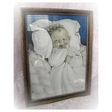 Sweet Baby Picture in Original Frame