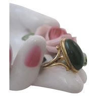 Victorian Green Carnelian Pinkie Ring