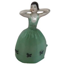 Sweet Petite Porcelain Bottle Woman Art Deco