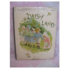 Child's Small Size Ernest Nister Hard Bound Book with Lithographed Pictures Illustrations