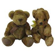Sweet Vintage Pair of Teddy Bears