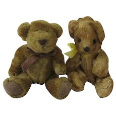 Sweet Vintage Pair of Teddy Bears