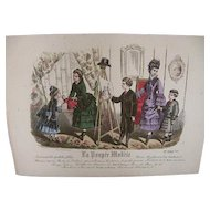 Lovey French Hand Colored Illustration French 1800s