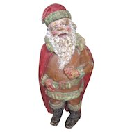 Theater or Store Display Papier Mache Santa Claus Old King Cole Sticker