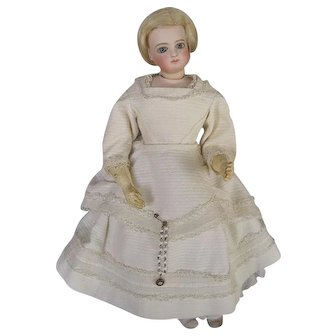 Lovely Antique French Jumeau Fashion Doll with Additional Accessories