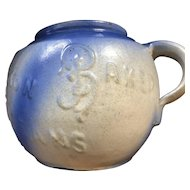 1800's Rare Boston Beans Blue White Bean Pot
