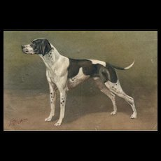 Artist signed Birst Pointer Dog #98