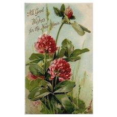 Artist Signed Catherine Klein Vintage New Year Vintage Postcard