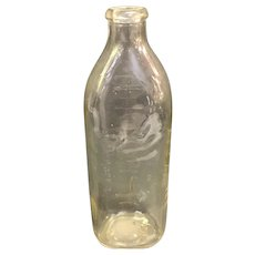 Vintage Glass Embossed Sonny Boy 8 oz ounce Baby Bottle
